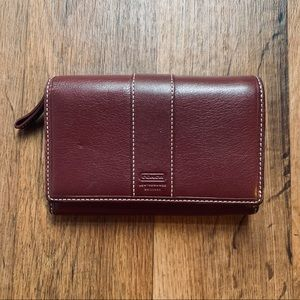 Coach Burgundy Leather Wallet